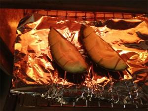 アボカドバターをオーブンで焼く