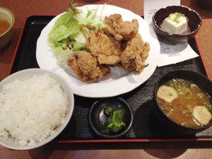 大盛鶏唐揚げ定食