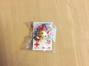 献血の粗品2「けんけつちゃんストラップ」