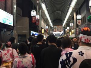 大阪天満宮へ向かう