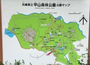 甲山森林公園マップ