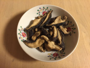 茸のまんまわさび味を食べる