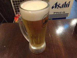 ビールでカンパイ