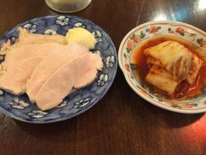 鶏ハムと白菜キムチ