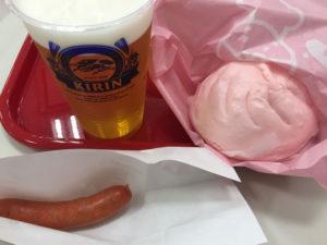 ビールと明太子フード