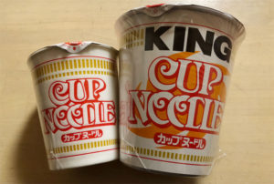 ノーマルとキングカップヌードルの比較