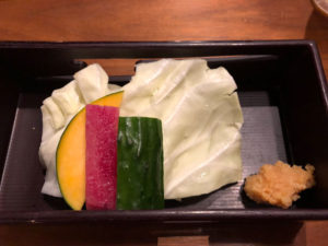付き出しの野菜