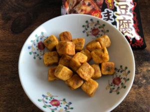 麻婆豆腐のまんまを食べる