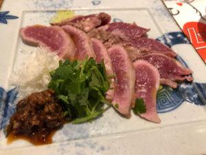 ラム肉のたたき