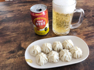 台湾ビールと小籠包